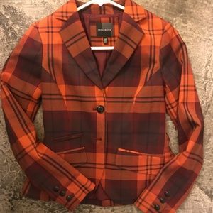 Plaid Fitted Blazer - The Limited